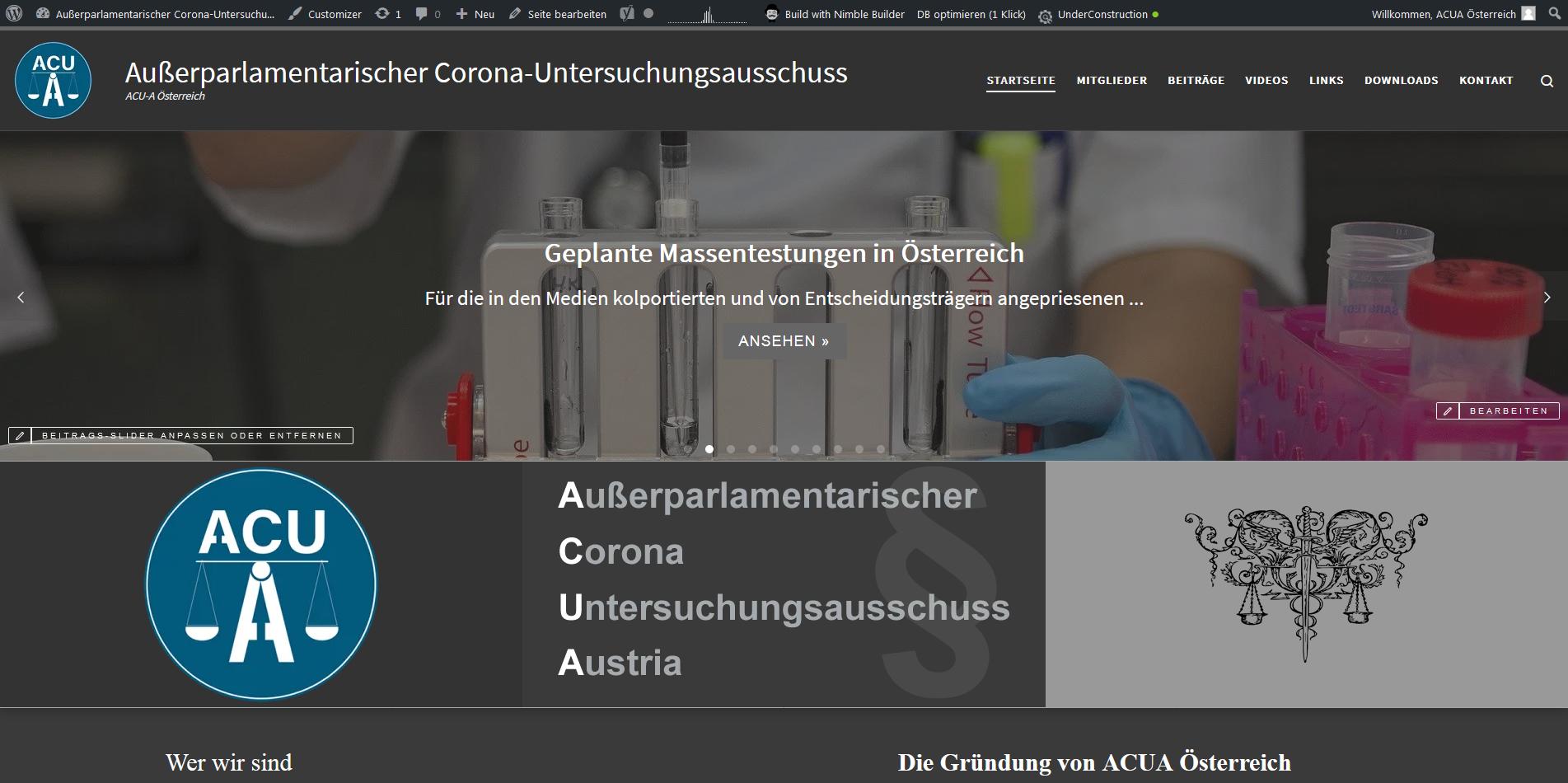 Außerparlamentarischer Corona-Untersuchungsausschuss ACU-A Österreich